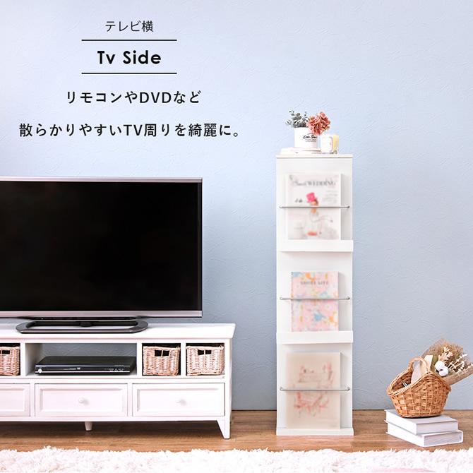 テレビの横にリモコンやDVD置きとして