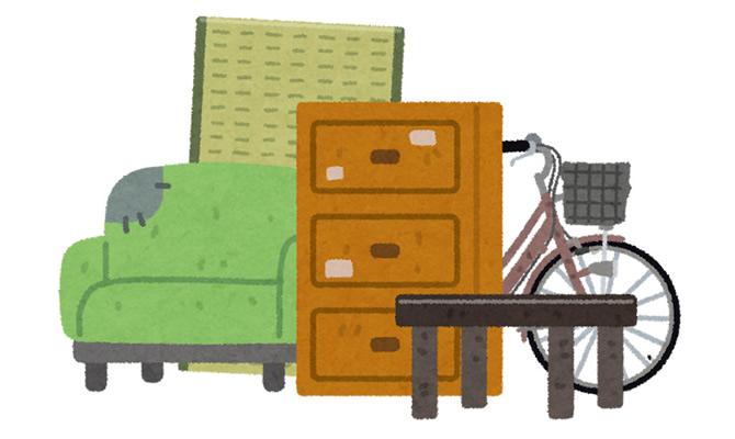 粗大ごみで家具を廃棄する