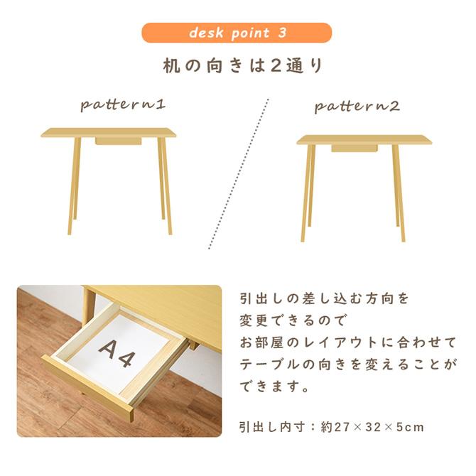 机の向きは2通り
