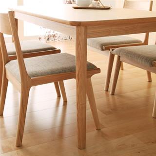 テーブルや脚は角を丸くデザイン