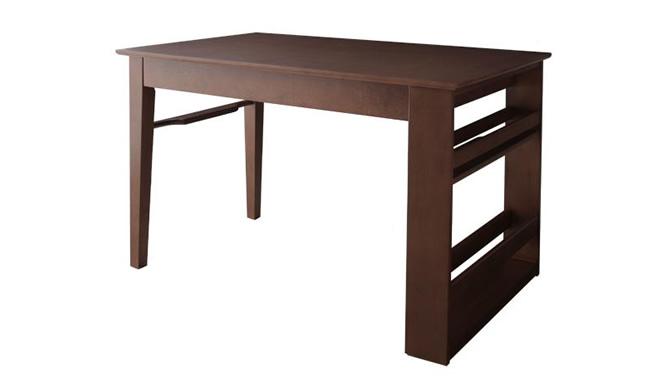 3段階に広がる!収納ラック付きエクステンションダイニング 【Dream.3】 テーブル