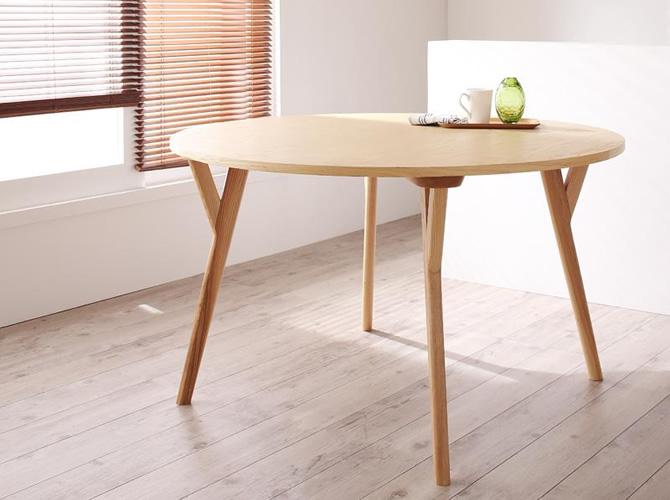 デザイナーズ北欧ラウンドテーブルダイニング 【Rour】ラウール 円形テーブル