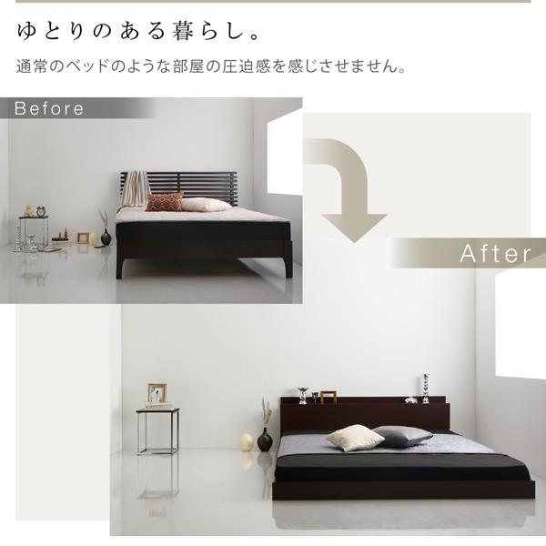 通常のベッドのような部屋の圧迫感を感じさせません。