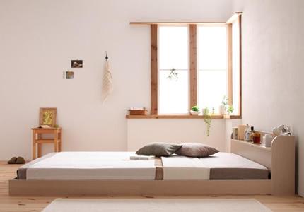 空間が広がるフロアタイプのベッド