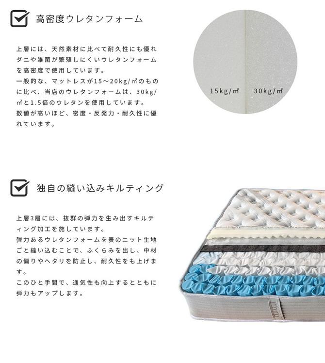 高密度ウレタンフォーム・独自の縫い込みキルティング