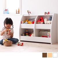 完成品!シンプルデザインキッズ収納家具シリーズ 【CREA】クレア おもちゃ箱