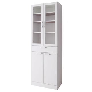 扉付食器棚スリムタイプ ホワイト