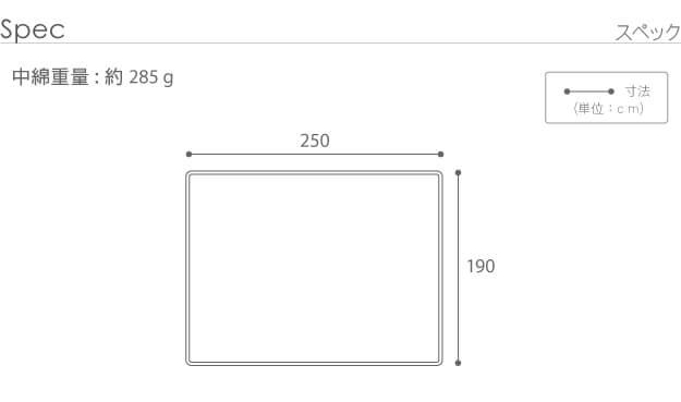 250×190cm