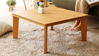 木目調リバーシブル天板 フラットヒーターこたつテーブル 【Homey】ホーミー 正方形68×68cm