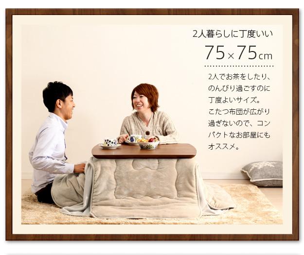 75×75cmの特徴