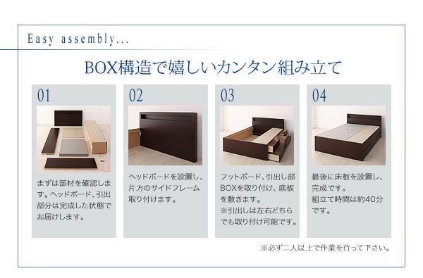 BOX構造で嬉しい簡単組立