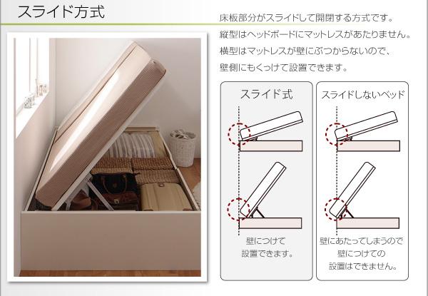 スライド方式なので壁にくっつけて設置可能