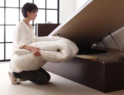安心の収納力!ベッド下の深さが選べます