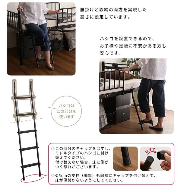 ミドルタイプの梯子の説明