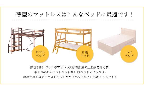 薄型マットレスはこんなベッドに最適