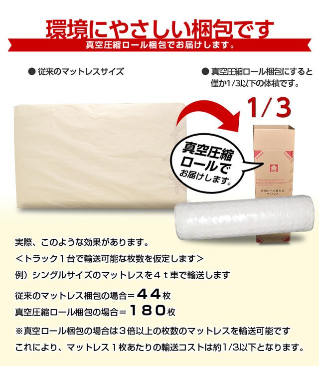 環境に優しい真空圧縮ロール梱包でお届け