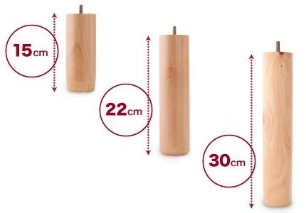 脚の高さは3種類から選択可能