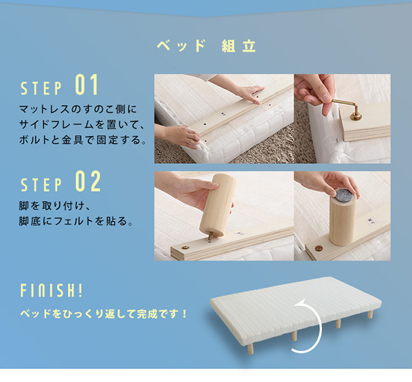 ベッド組み立て方法