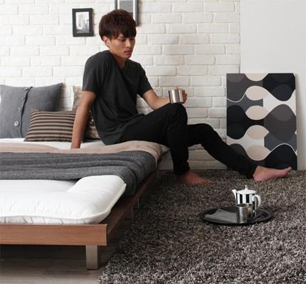 敷布団でもスタイリッシュな寝室に。