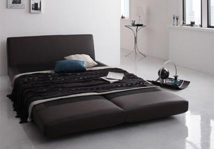 簡単切り替え&幅広ベッド