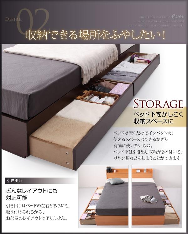 ベッド下をかしこく収納スペースに