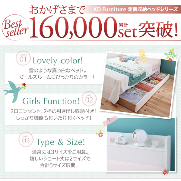 定番収納ベッド、160,000セット突破!