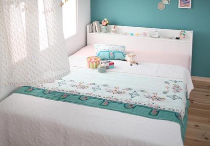 雪のような真っ白なベッド
