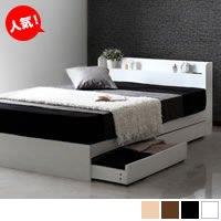 モノトーンシンプル収納ベッド 【RUES】ルース