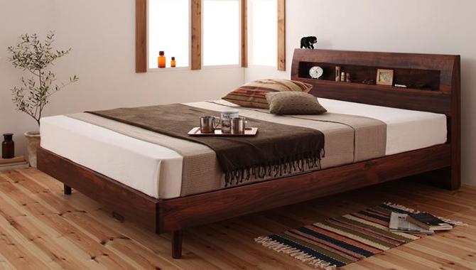 棚・コンセント付デザインすのこベッド 【Haagen】ハーゲン