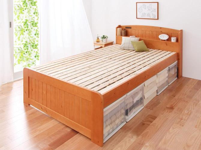 高さが調整出来る宮付すのこベッド 【Pittarida】ピッタリダ