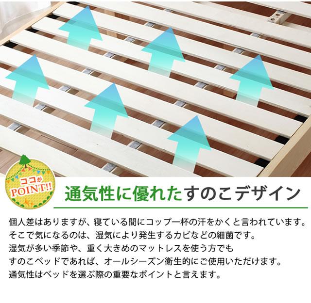 通気性のある床板