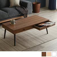 天然木ローテーブル ストレージ(引出し2杯)タイプ