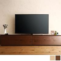 国産完成品天然木 和モダンデザイン ガラス突板テレビボード 【Dine】ディーヌ