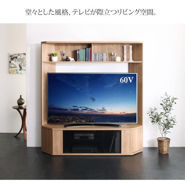 堂々とした風格、テレビが際立つリビング空間