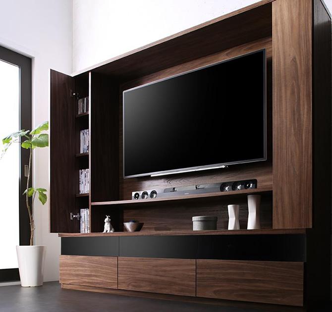 壁掛け機能付きハイタイプTVボード 【Dewey】デューイ