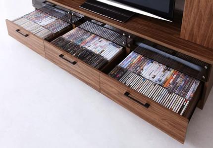 収納力のあるハイタイプテレビボード