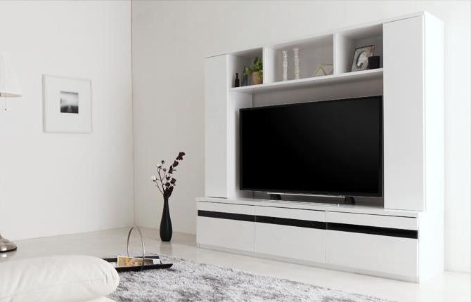 鏡面仕上げハイタイプTVボード 【MODERNA】モデルナ