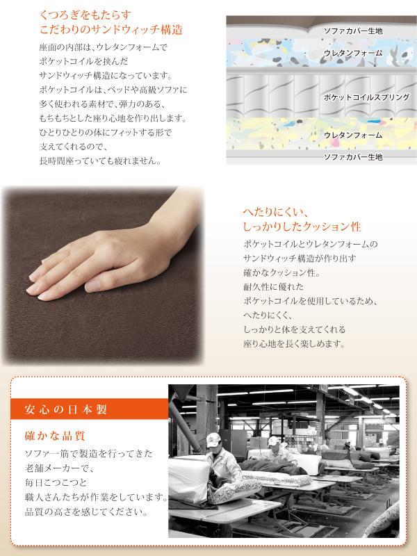 ポケットコイル仕様・安心の日本製